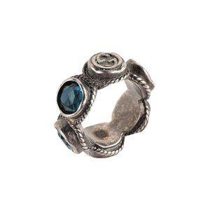 Gucci Blue Swarovski Crystal Band Ring
